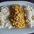 Riz et lentilles corail a l indienne