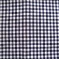 Coton vichy bleu marine (petits carrés)