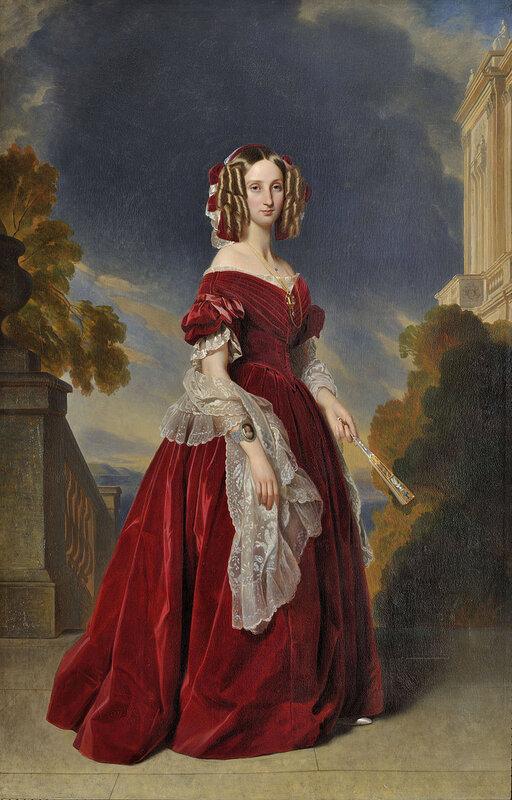 1841 - Portrait de la reine Louise-Marie de Belgique