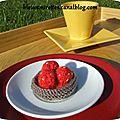 Une tartelette aux fraises au tricot !