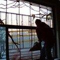 Dépose d'une Verrière Art Déco rue du Brabant à Bxl
