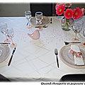 TABLE FETE DES MAMANS ROSE <b>PASTEL</b> EN TOUTE SIMPLICITE !