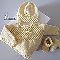 Tricot bébé, modèle fait main, layette bb tricoté main