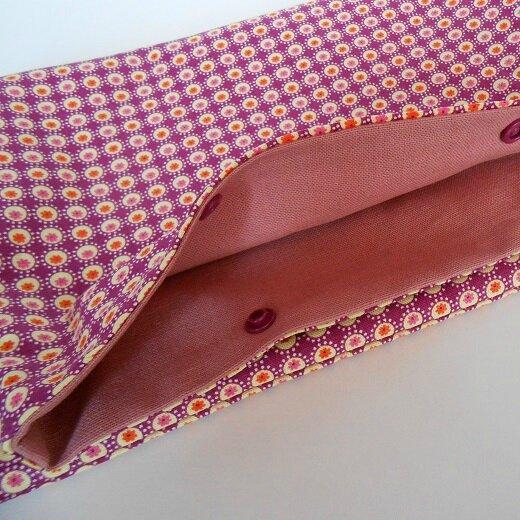Pochette lingerie fleurettes orange1