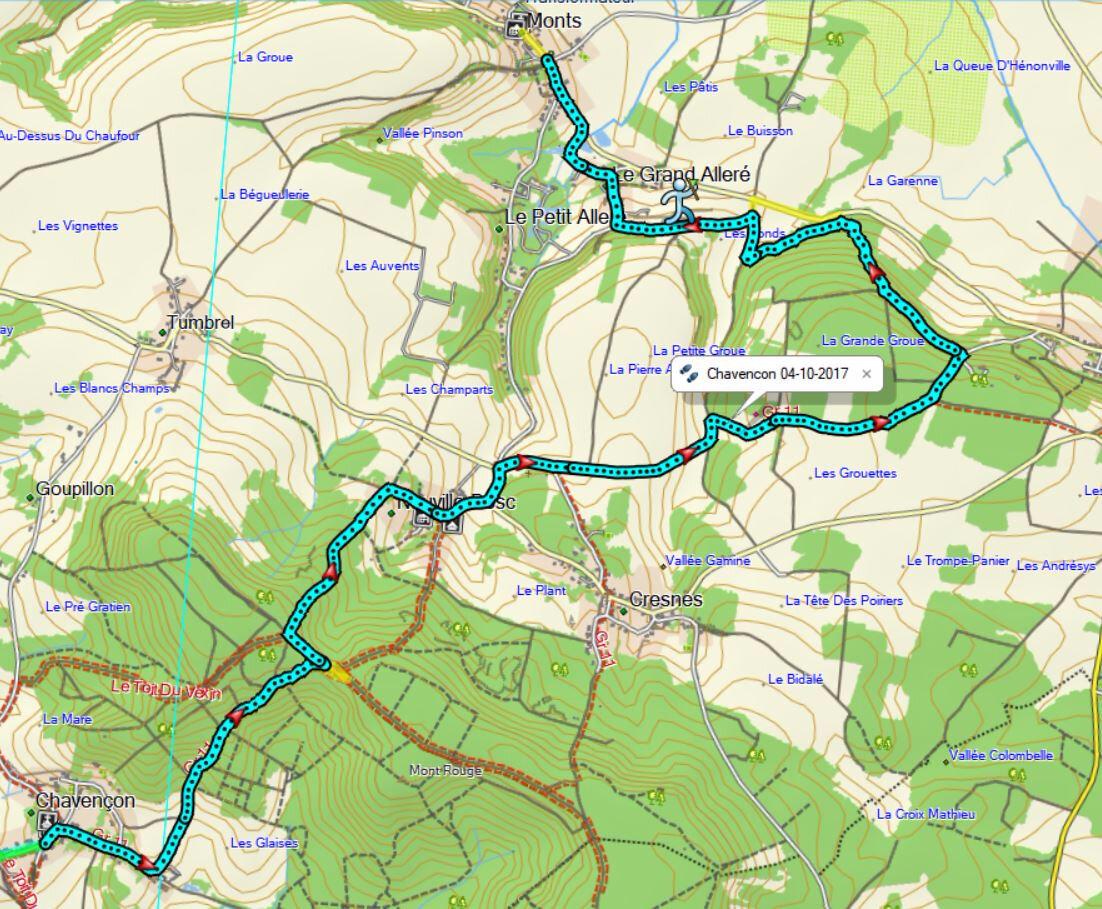 Rando 15km autour de Chavençon