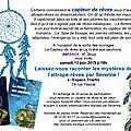 Soirée capteur de rêves le 13 juin 2015 à paris