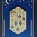 Carte Boules de Noël du lot Cantique de Noël
