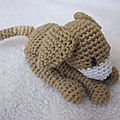 Test crochet - sleeping puppy