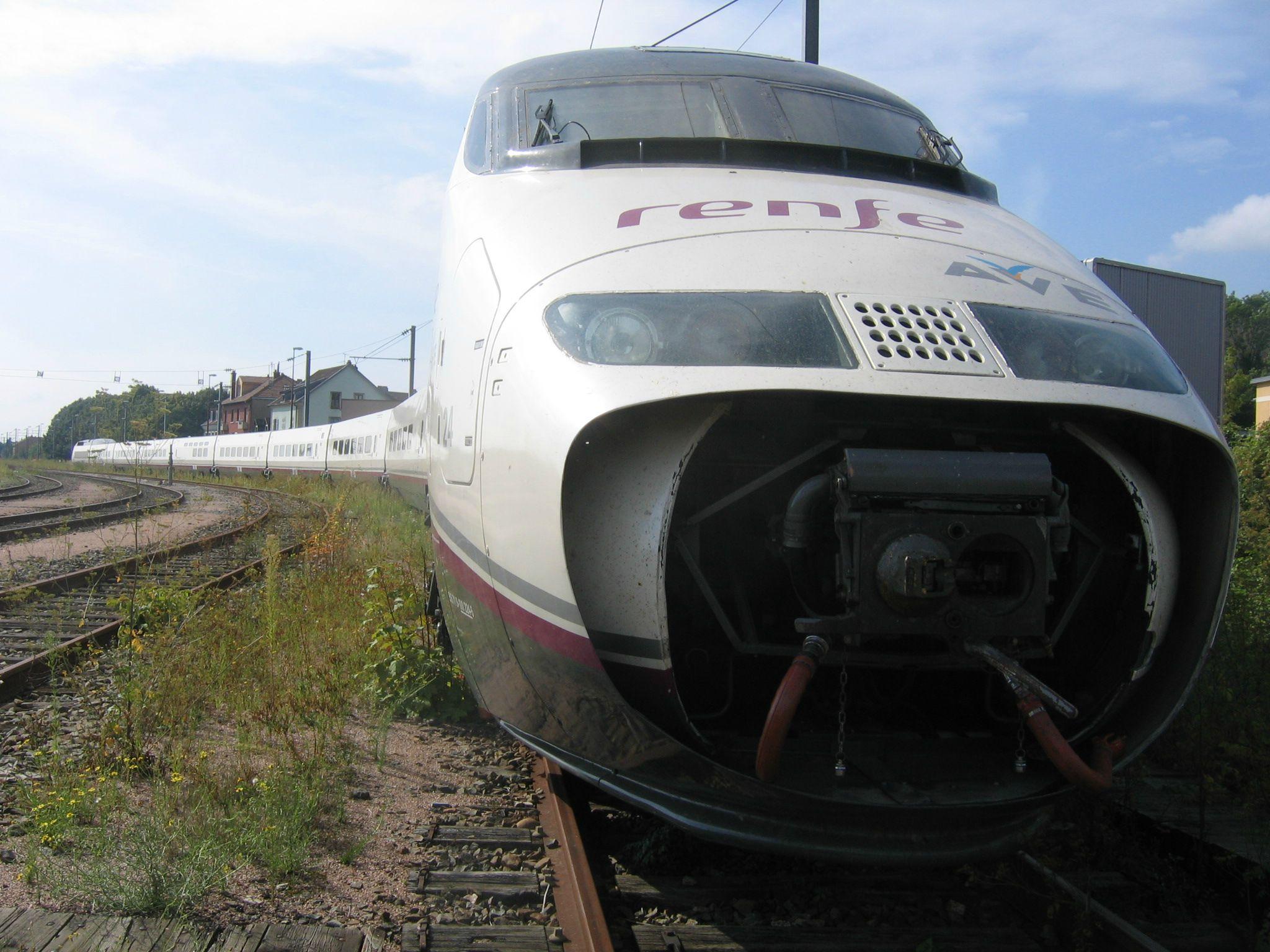 Rame TGV espagnole (RENFE) à Belfort