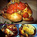 Cuisson du poulet entier (ou cuisses) dans un sachet de cuisson au four
