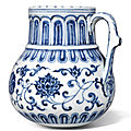 An outstanding blue and white <b>tankard</b>, Mark and period of Xuande (1426-1435)