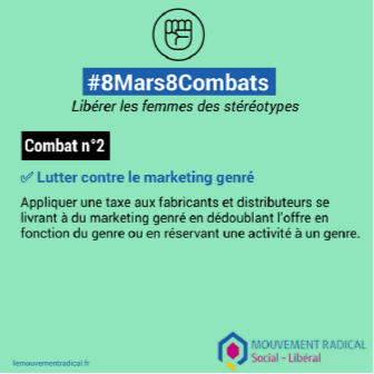 8 mars > 8 combats - Combat n° 2 : lutter contre le marketing genré
