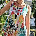 Petite robe courte drape drape 2