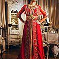 <b>Caftan</b> <b>royal</b> rouge orné 2014