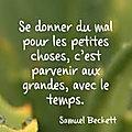 Se donner du mal pour les petites choses 💚, C'est parvenir aux grandes 💚, Avec le temps 💚💚💚...