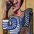 Picasso self portrait formerly from the Ganz Collection up for auction in May