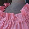 Robe ALBANE en lin corail (2)
