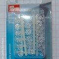 Bouton pression à coudre transparent 7 mm