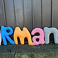Armand prenom en tissu poc a poc
