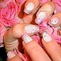 Nail art romantique pour la saint valentin