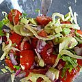 Salade fenouil et tomate