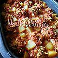 Kefta de colin à la sauce tomate et pommes de terre