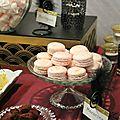 Sweet table réveillon chez gatsby : les macarons.