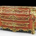 Important painted commode, Louis XV, attributed to J.W. VAN DER AUVERA and F. HUNDT), Wurzburg circa 1735/40