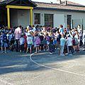 Rentrée scolaire dans les écoles de saint-gence