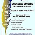 <b>scène</b> <b>ouverte</b> des conteurs amateurs (2ème édition) à la MJC de Fontaine
