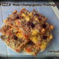 Pizza thon/champignons/fromage