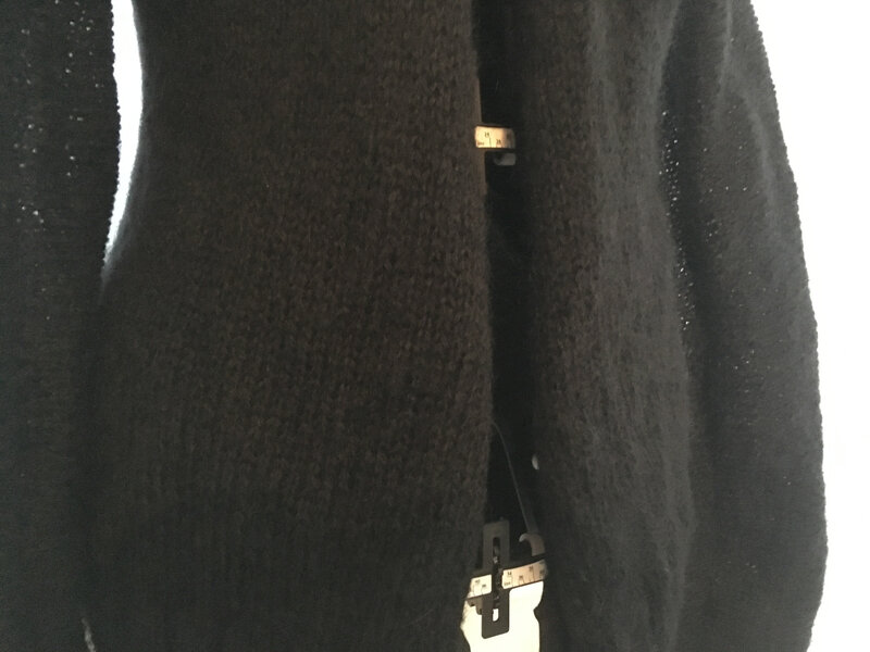 gilet 5pel phil charme noir point jersey modele phildar automne hiver n652 38-40 11