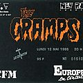 The <b>Cramps</b> - Lundi 12 Mai 1986 - Zénith (Paris)