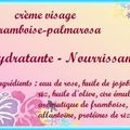 Crème visage framboise - <b>palmarosa</b>