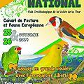 Affiche national d'élevage des canaris de posture c.t.p 2014
