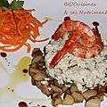 topinambour, poisson, crevettes