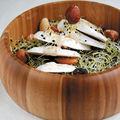 Salade de champignons aux jeunes pousses