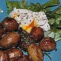 Poêlée de <b>pommes</b> de <b>terre</b> <b>nouvelles</b> glacées à l'huile d'olive, sauge et romarin pour célébrer les 50 ans du Pardon de Loc Ildut!