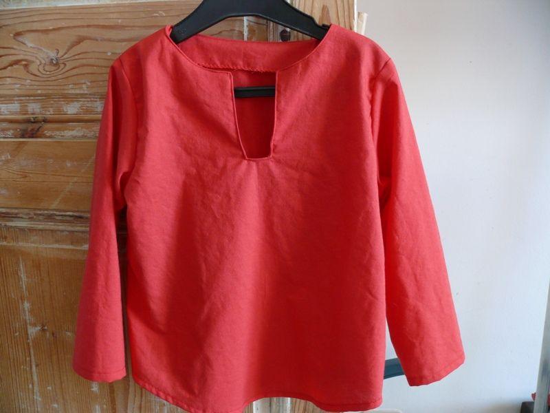chemise rouge Bébénours