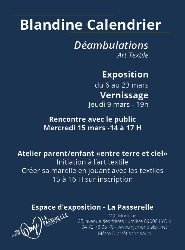 Blandine calendrier MJC Monplaisir 69008 Lyon V°