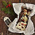 Chocolat blanc aux fraises séchées et pistaches