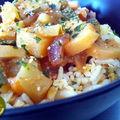 Méli-mélo de riz thaï et lentilles aux légumes