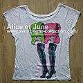 Abbey Dawn Guitar Boots Slouch Tee