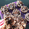 Muffins Chocolat Flocons d'avoine fourrés