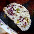 Biscottis fraise pistache