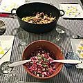 Lapin aux poireaux et au saint agur