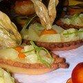 mignardises (barquettes ananas citron vert)