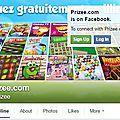 Prizee : faites un tour sur les pages de réseaux sociaux de ce site