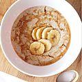 Porridge à la banane et sirop d'érable pour le petit dej' ♥