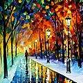 ICEY PATH By <b>Leonid</b> Afremov
